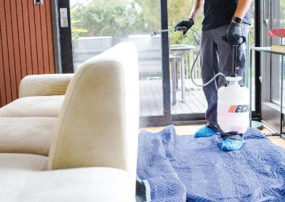 preping sofa's upholstery for cleaning